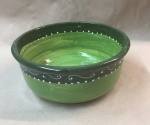 Kleine Schüssel Bowl Keramik in green ornamentic