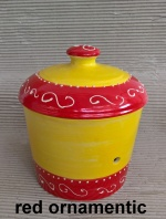 Rumtopf Rom II in red ornamentic ca. 3 Liter